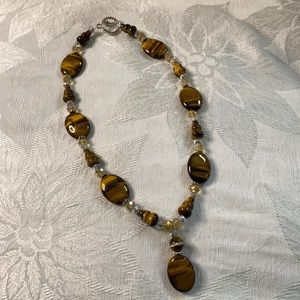 One of a kind Tiger's Eye necklace